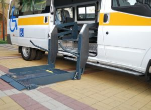Vehicle with wheelchair lift